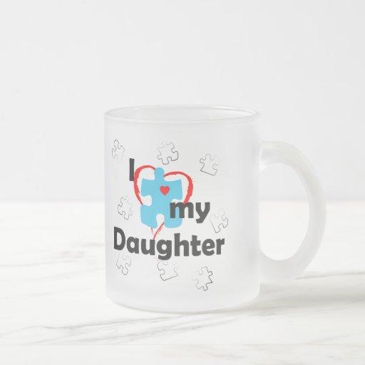 Amo a mi hija - autismo taza