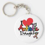 Amo a mi hija autística llaveros personalizados