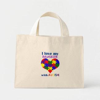Amo a mi hija con el bolso del autismo bolsas de mano