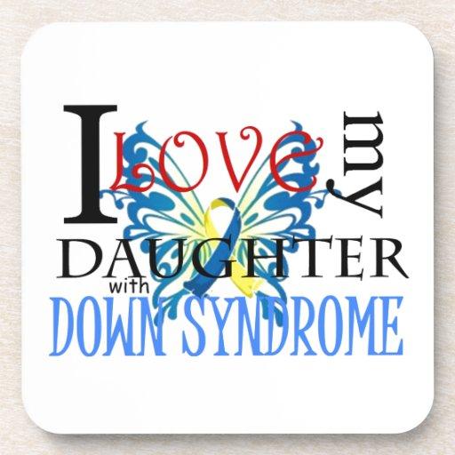 Amo a mi hija con Síndrome de Down Posavasos De Bebida