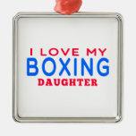 Amo a mi hija del boxeo adorno de navidad