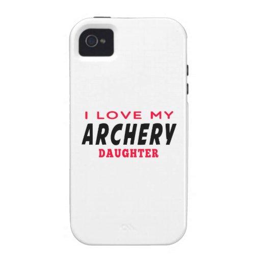 Amo a mi hija del tiro al arco iPhone 4 carcasa