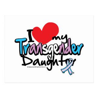 Amo a mi hija del transexual tarjeta postal