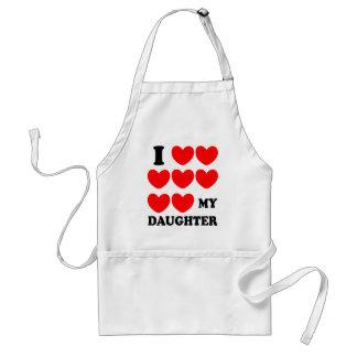 Amo a mi hija delantal