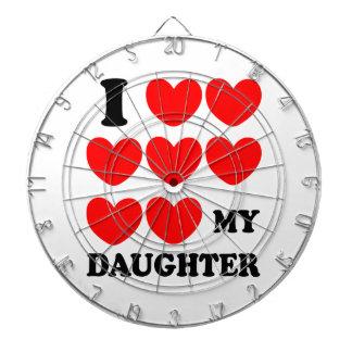 Amo a mi hija tabla dardos