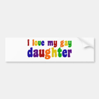Amo a mi hija gay etiqueta de parachoque