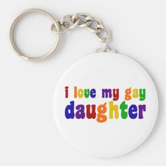 Amo a mi hija gay llavero personalizado
