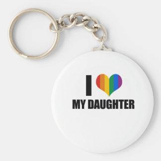 Amo a mi hija gay llavero redondo tipo pin