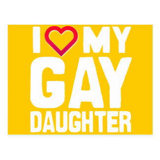 AMO A MI HIJA GAY - - .PNG TARJETAS POSTALES