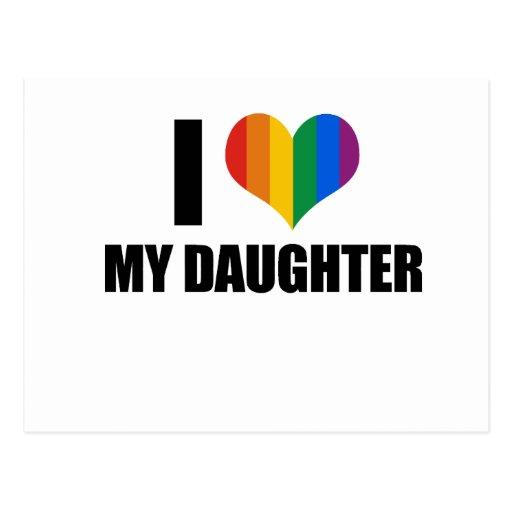 Amo a mi hija gay postales