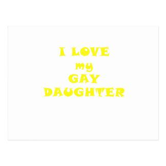 Amo a mi hija gay tarjetas postales