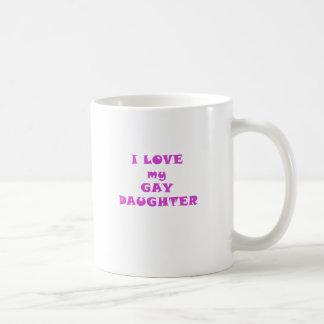 Amo a mi hija gay taza de café