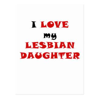 Amo a mi hija lesbiana tarjetas postales