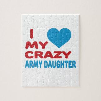 Amo a mi hija loca del ejército puzzles con fotos