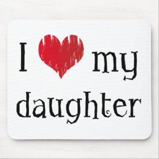 Amo a mi hija mouse pad