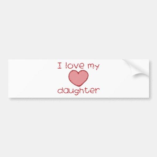 Amo a mi hija pegatina para auto