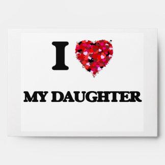 Amo a mi hija sobres