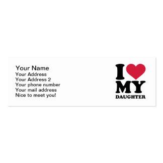 Amo a mi hija tarjetas de visita
