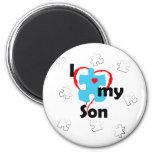Amo a mi hijo - autismo imán redondo 5 cm