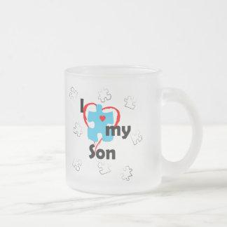 Amo a mi hijo - autismo taza cristal mate