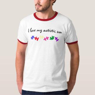 Amo a mi hijo autístico playera