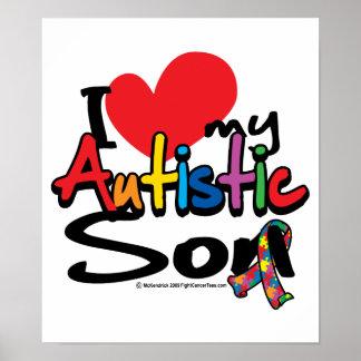 Amo a mi hijo autístico póster