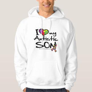 Amo a mi hijo autístico suéter con capucha