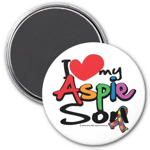 Amo a mi hijo de Aspie Imán Redondo 7 Cm
