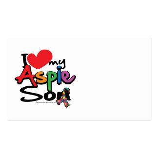 Amo a mi hijo de Aspie Tarjetas De Visita