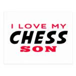 Amo a mi hijo del ajedrez postal