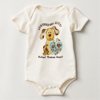 Amo a mi hijo, enredadera personalizada del bebé body para bebé