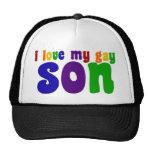 Amo a mi hijo gay gorras