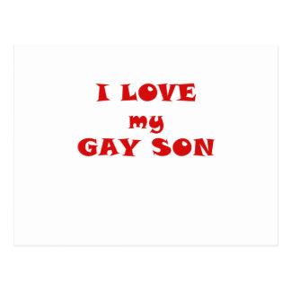 Amo a mi hijo gay tarjetas postales