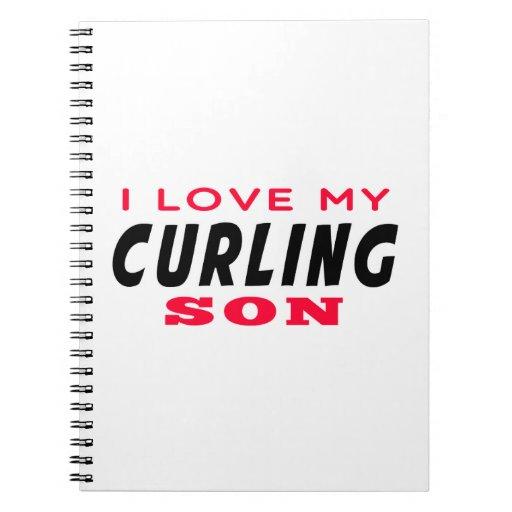 Amo a mi hijo que se encrespa cuaderno
