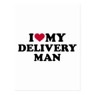 Amo a mi hombre de entrega postales
