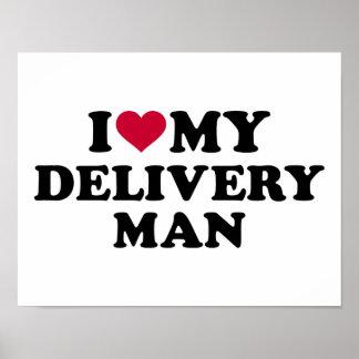 Amo a mi hombre de entrega póster