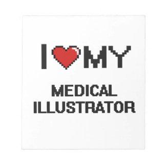 Amo a mi ilustrador médico libreta para notas