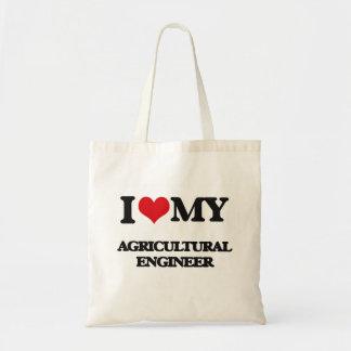 Amo a mi ingeniero agrícola bolsas de mano