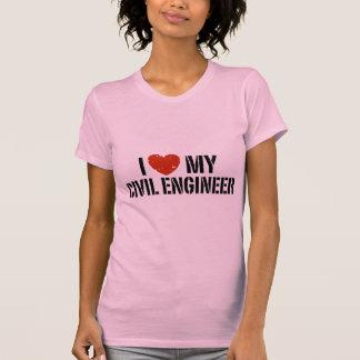 Amo a mi ingeniero civil camisas