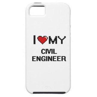Amo a mi ingeniero civil iPhone 5 Case-Mate cárcasas