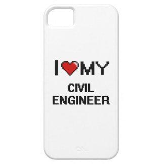 Amo a mi ingeniero civil iPhone 5 Case-Mate protectores