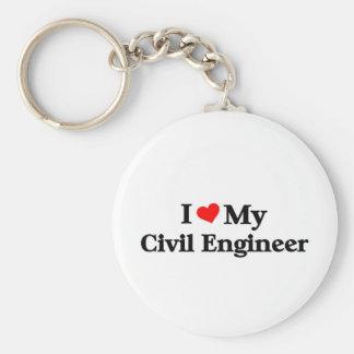 Amo a mi ingeniero civil llavero redondo tipo pin