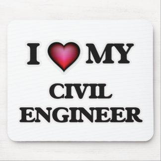 Amo a mi ingeniero civil mouse pads