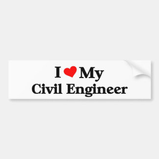 Amo a mi ingeniero civil pegatina para auto