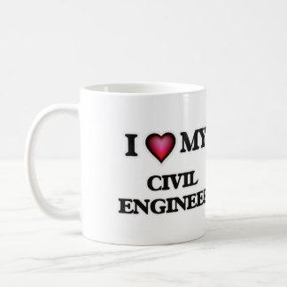 Amo a mi ingeniero civil taza clásica