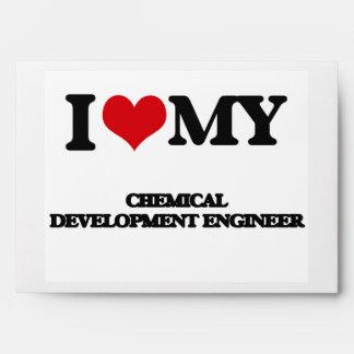 Amo a mi ingeniero de desarrollo químico sobre