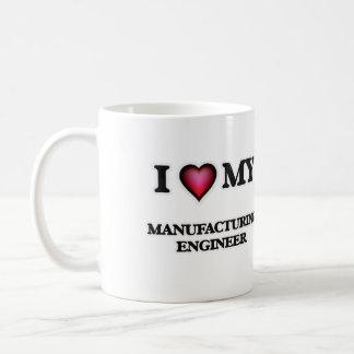 Amo a mi ingeniero de fabricación taza clásica