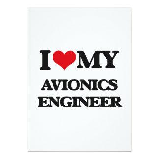 Amo a mi ingeniero de la aviónica invitación