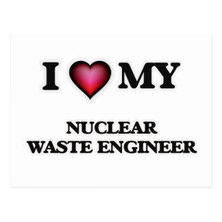 Amo a mi ingeniero de la basura nuclear tarjetas postales