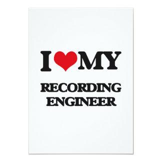 Amo a mi ingeniero de la grabación invitación 12,7 x 17,8 cm